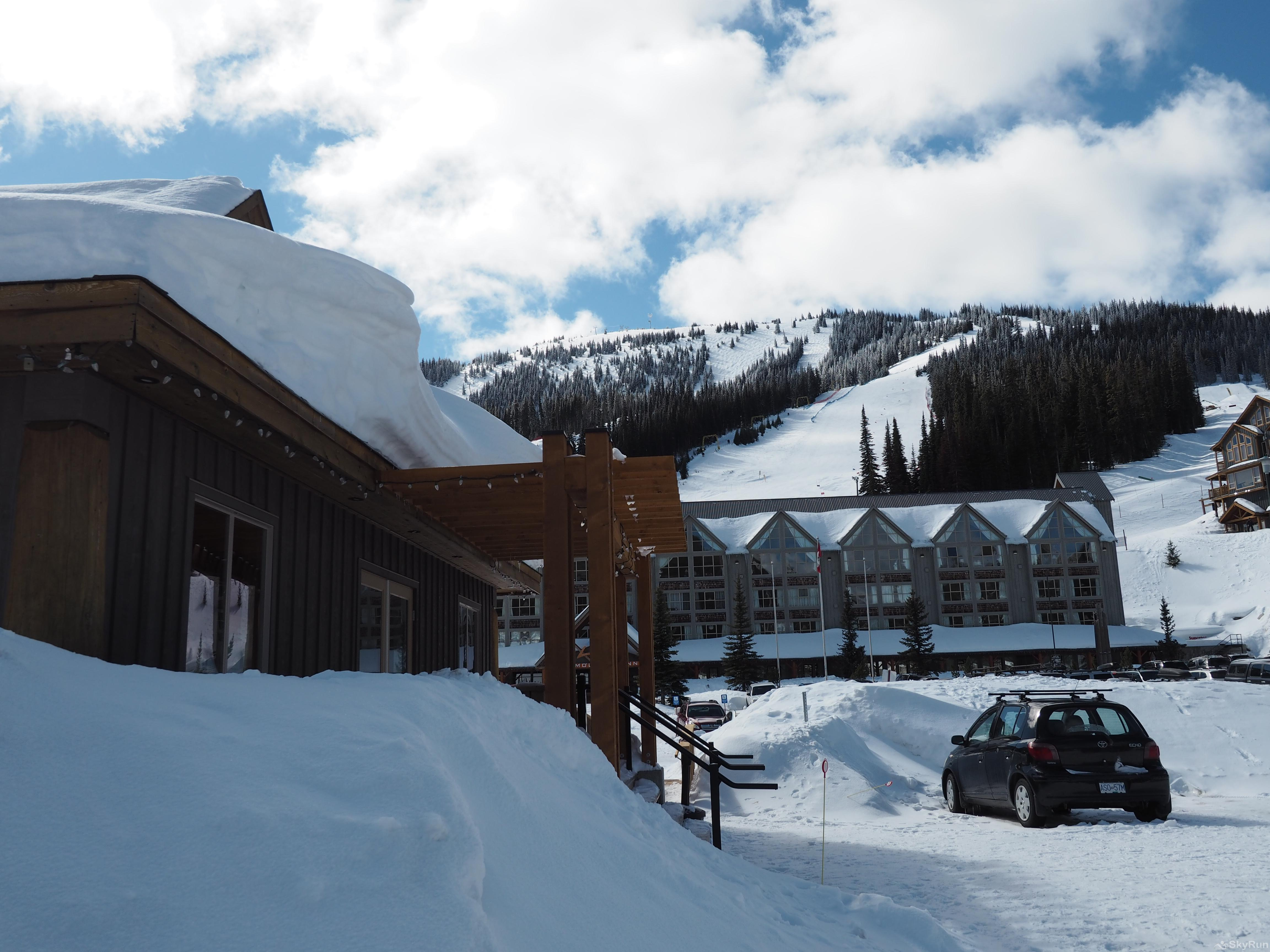The Apex Mountain Lodge Apex Lodge (Apex Mountain Inn in the background)
