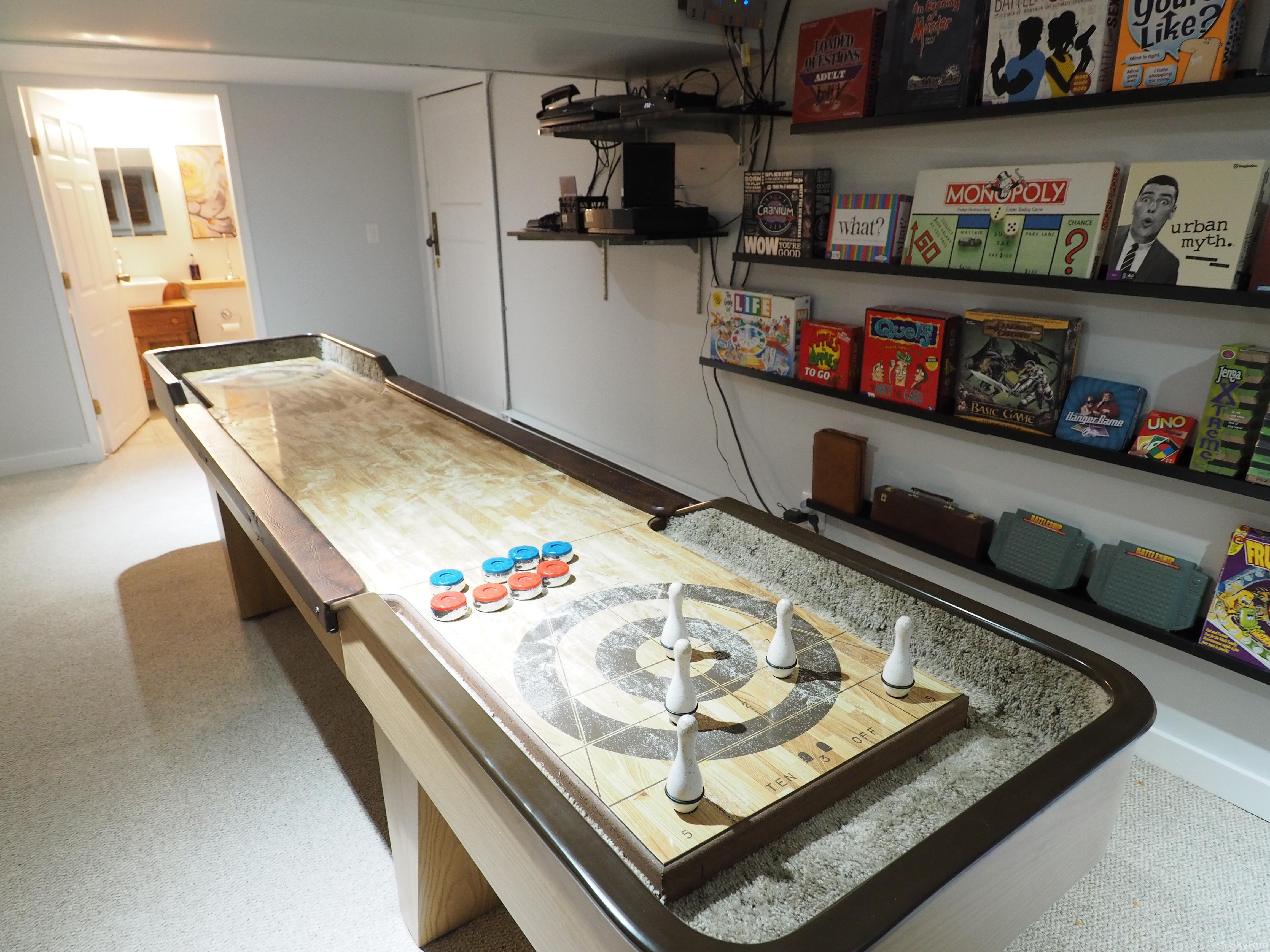 Penticton Country Estate The basement also has numerous board games and shuffleboard